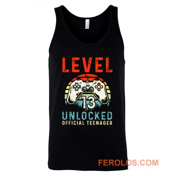Level 13 Unlocked 13th Birthday Tank Top