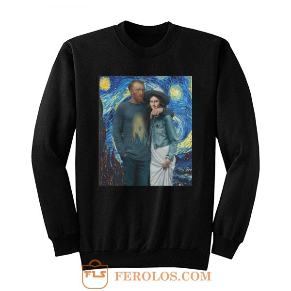 Lisa Van Gogh Starry Night Sweatshirt