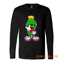 MARVIN THE MARTIAN Showing Midle Finger Long Sleeve