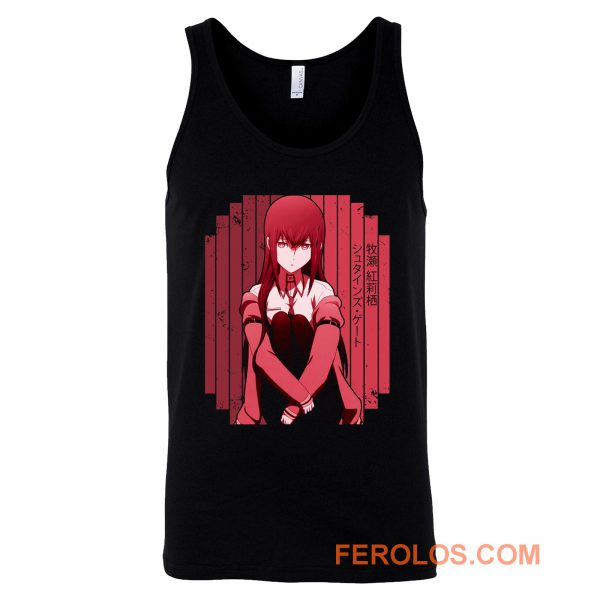 Makise Kurisu Red Steins Gate Tank Top