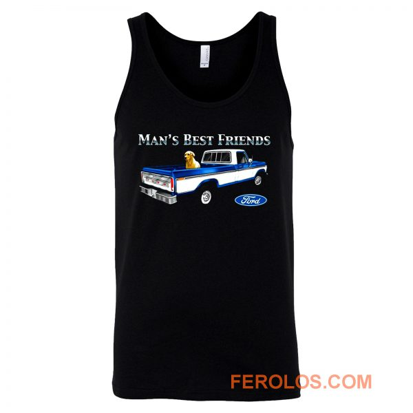 Mans Best Friend F150 Truck Ford Lab Dog Pickup Tank Top