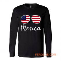 Merica Sunglasses USA Flag Long Sleeve