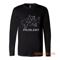 Middle finger cat Long Sleeve