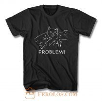 Middle finger cat T Shirt