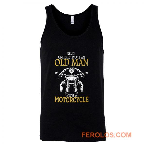 Motorcycle Old Man Tank Top