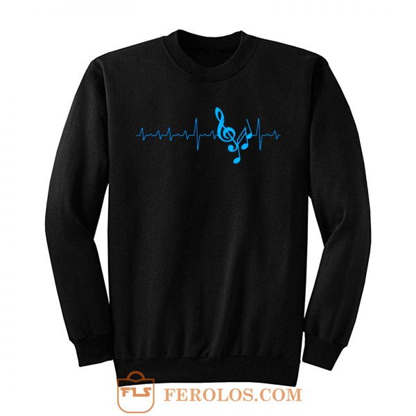 Musical Notes Heartbeat Sweatshirt