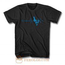 Musical Notes Heartbeat T Shirt