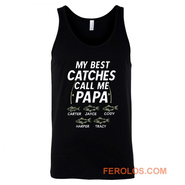 My Best Catches Call Me Papa Cute Papa Fishing Tank Top