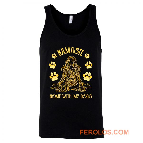 Namaste Home with My Dog Yoga Tank Top