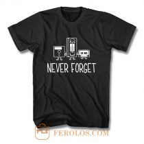 Never Forget Classic Floppy Disk T Shirt