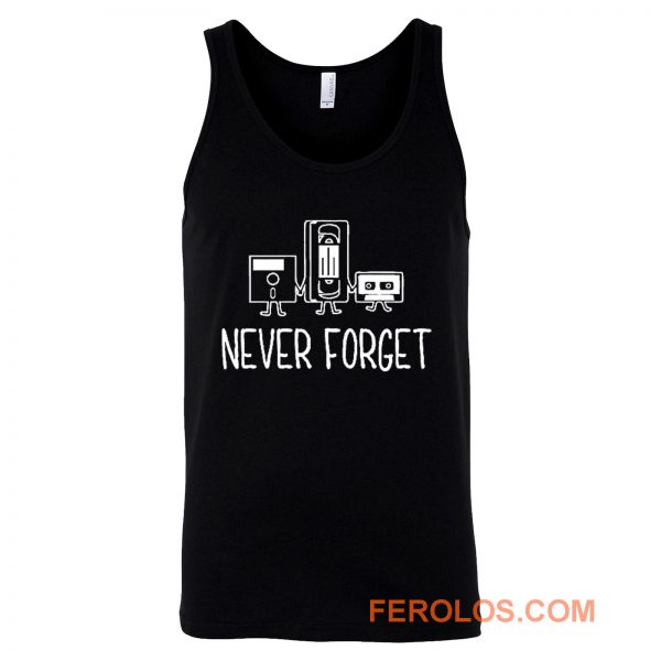Never Forget Classic Floppy Disk Tank Top