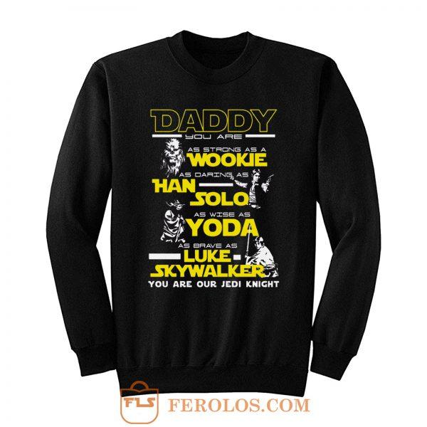 New Daddy Star Wars Jedi Father Day Sweatshirt