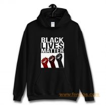 No Justice No Peace Black Lives Matter 3 Fist Hoodie