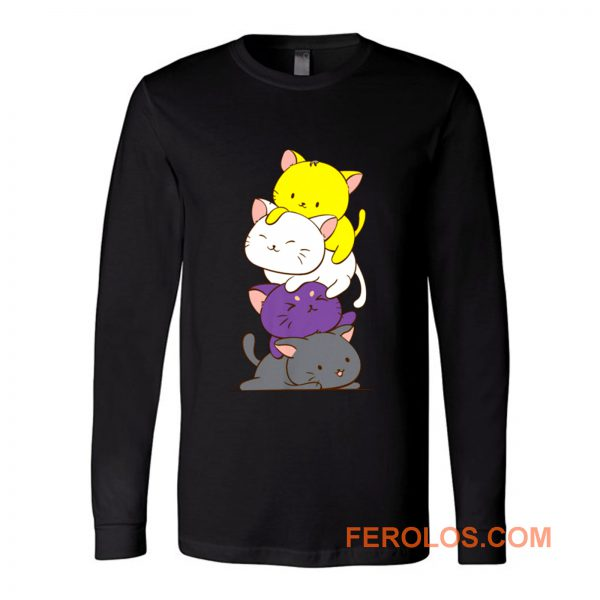 Nonbinary Gender and Genderqueer Cat Lovers Long Sleeve