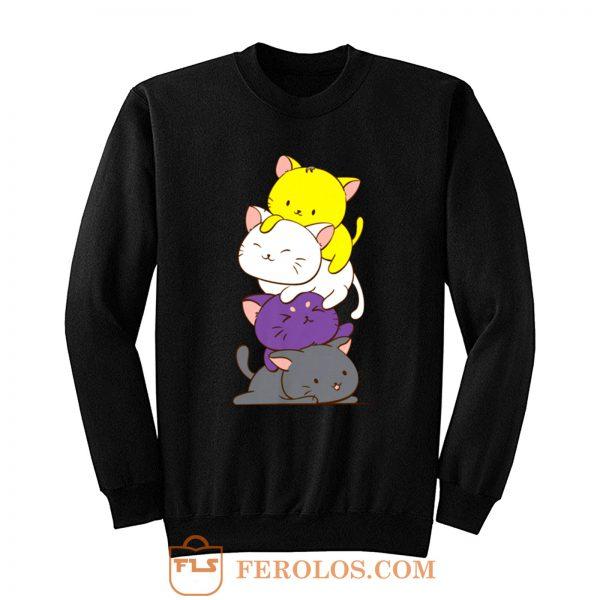 Nonbinary Gender and Genderqueer Cat Lovers Sweatshirt