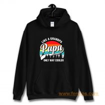 Papa Like A Grandpa Only Way Cooler Funny Fathers Day Hoodie