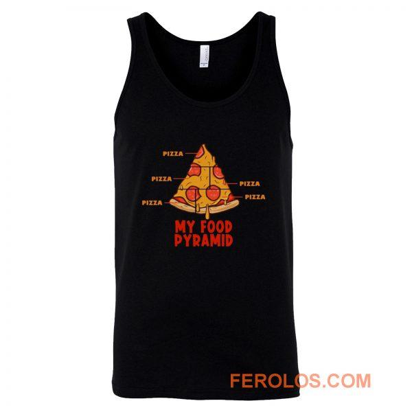 Pizza My Food Pyramid Tank Top