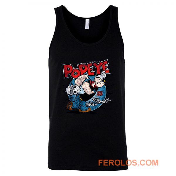 Popeye The Sailorman Classic Cartoon Tank Top