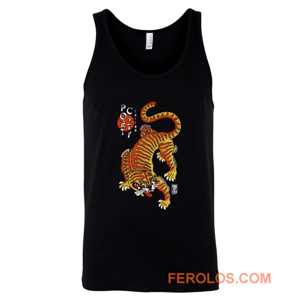 Port City Chinese Tiger Tank Top