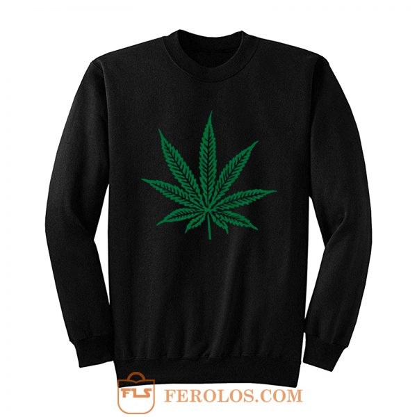 Pot Leaf Marijuana Sweatshirt