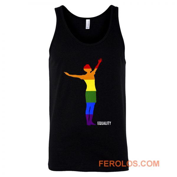 Pride Equality Usa Womens Soccer Lgbtq Rainbow Flag Tank Top