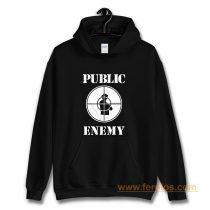 Public Enemy Shot Target Hoodie
