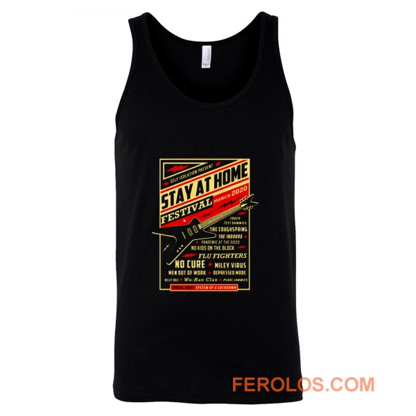 Quarantine Social Distancing Stay Home Festival 2020 Tank Top
