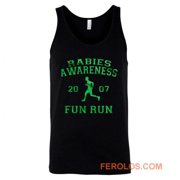 Rabies Awareness Fun Run Michael Scott The Office 5k Funny Humor Tank Top