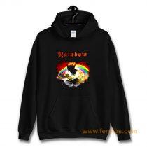 Rainbow Rising Hand Album Clouds Rock Roll Music Heavy Metal Hoodie