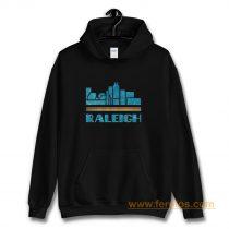 Raleigh City North Carolina Nc Skyline Hoodie