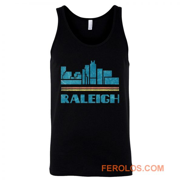 Raleigh City North Carolina Nc Skyline Tank Top