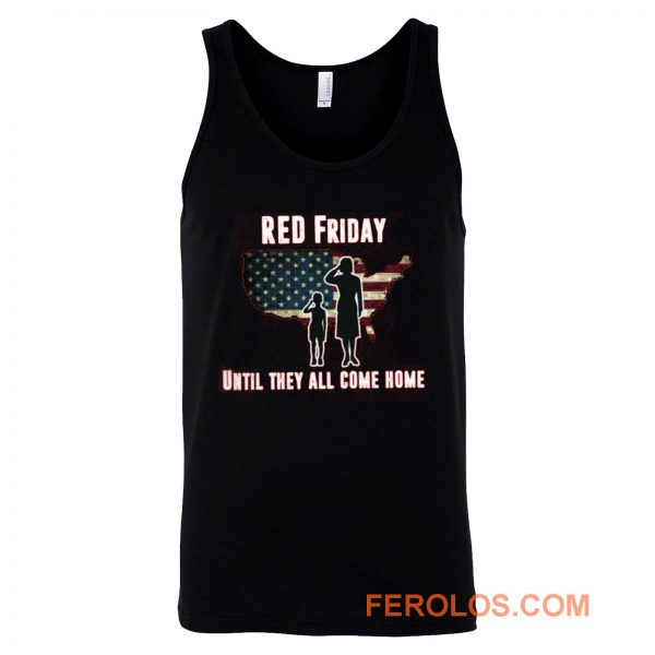 Red Friday Until They All Come Home Tank Top
