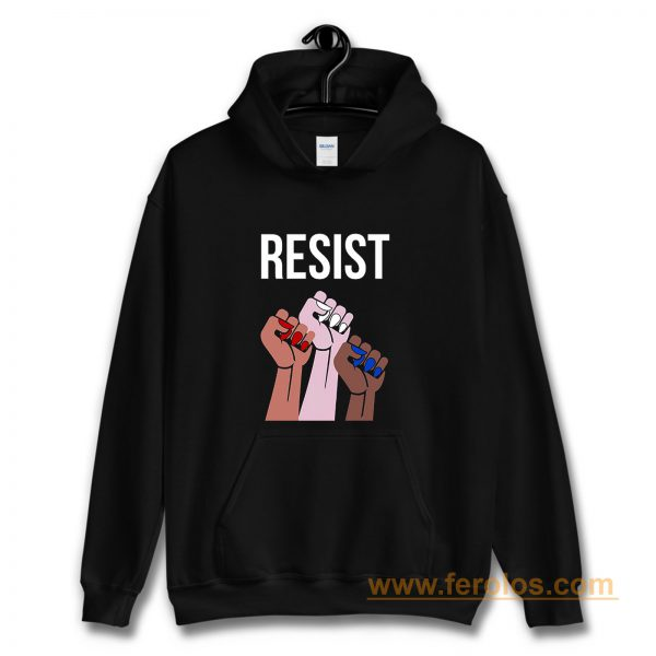 Reistst Womens Fists Political Hoodie
