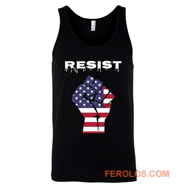 Resist American Flag Fist Tank Top