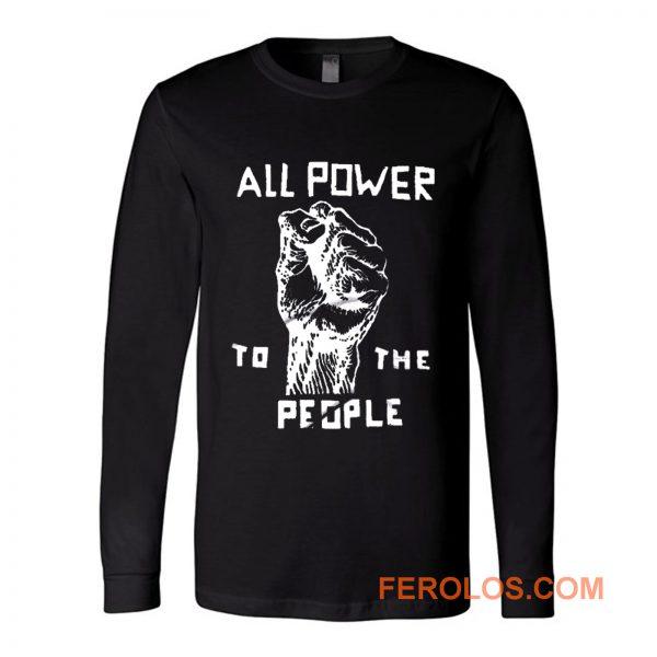 Retro Black Panther Long Sleeve