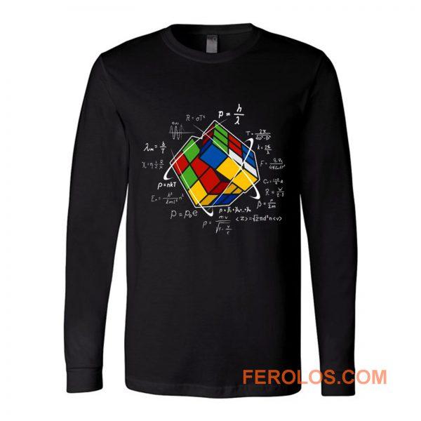 Rubik Cube Retro Vintage Colorful Cube Game Math Long Sleeve
