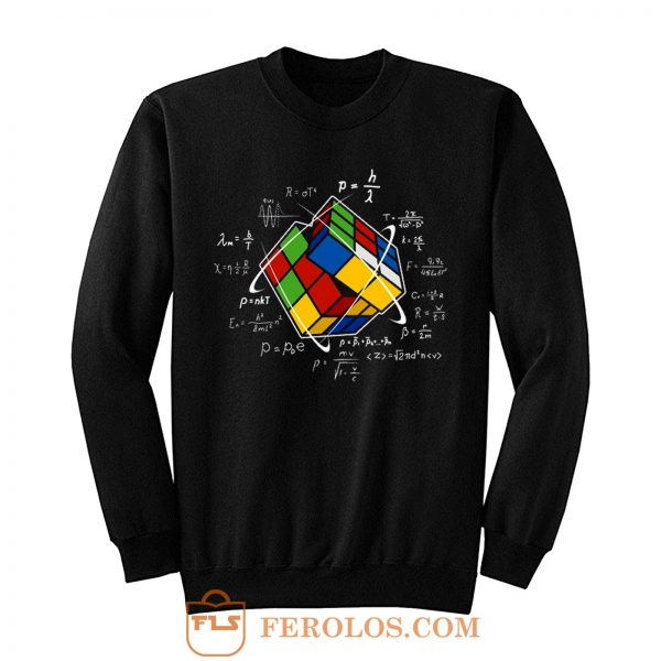 Rubik Cube Retro Vintage Colorful Cube Game Math Sweatshirt