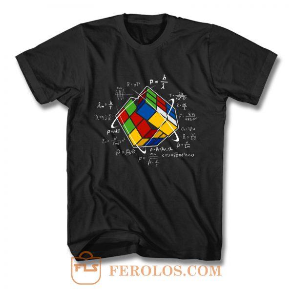 Rubik Cube Retro Vintage Colorful Cube Game Math T Shirt