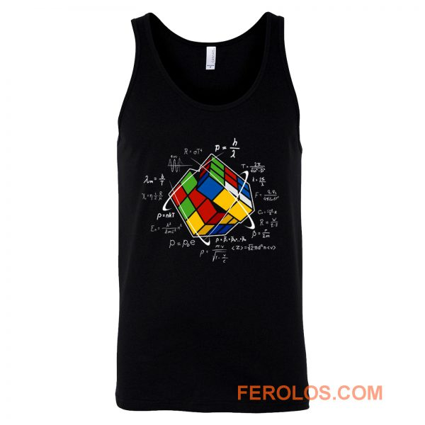 Rubik Cube Retro Vintage Colorful Cube Game Math Tank Top
