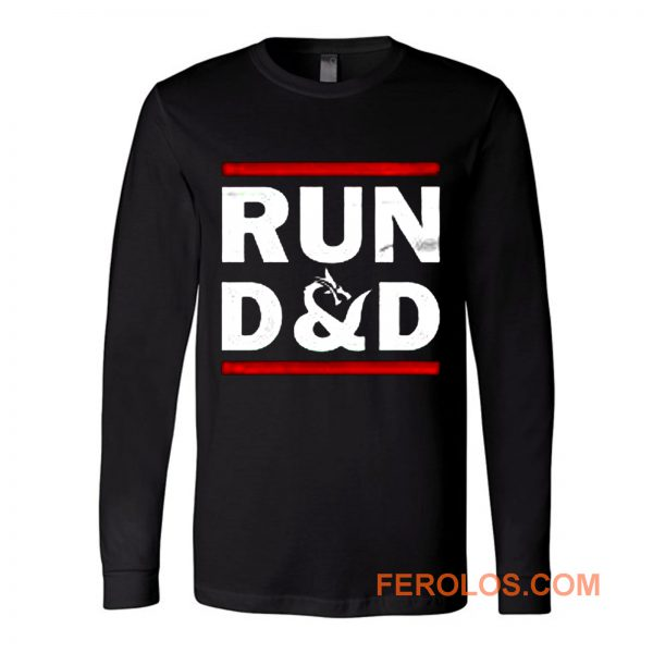 Run D And D Funny Board Game Long Sleeve