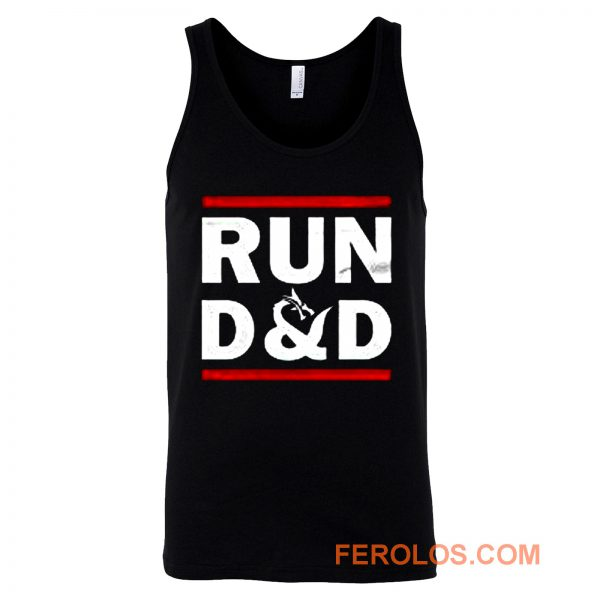 Run D And D Funny Board Game Tank Top