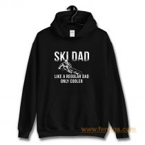 Ski Jumping Dad Skier Dad Hoodie