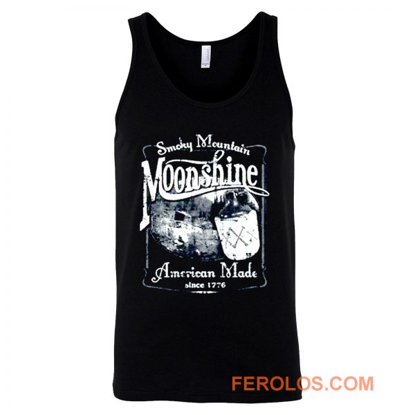 Smoky Mountain Moonshine American Made Since 1776 Whiskey Drinki Tank Top