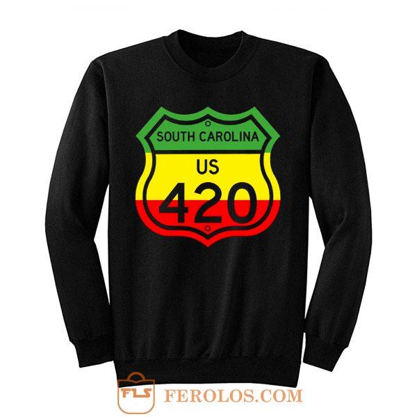 South Carolina Highway 420 in Rasta Colours Sweatshirt