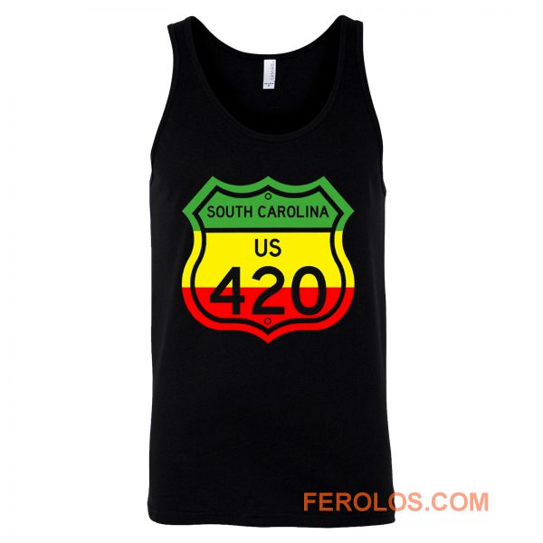 South Carolina Highway 420 in Rasta Colours Tank Top