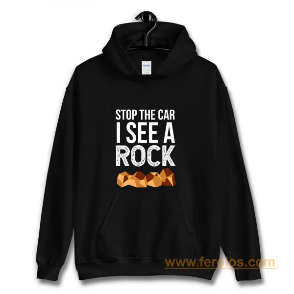 Stop The Car I See A Rock Hoodie