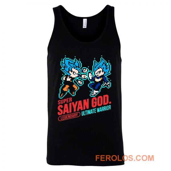 Super Saiyan God Dragon Ball Vintage Tank Top
