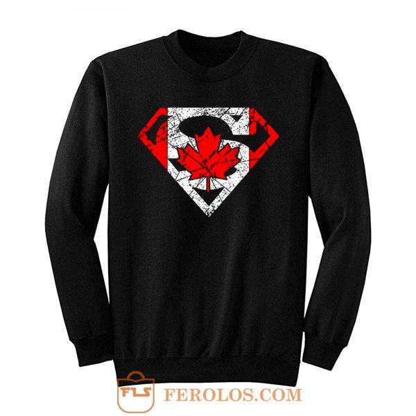 Superhero Dad Canadian Flag Sweatshirt
