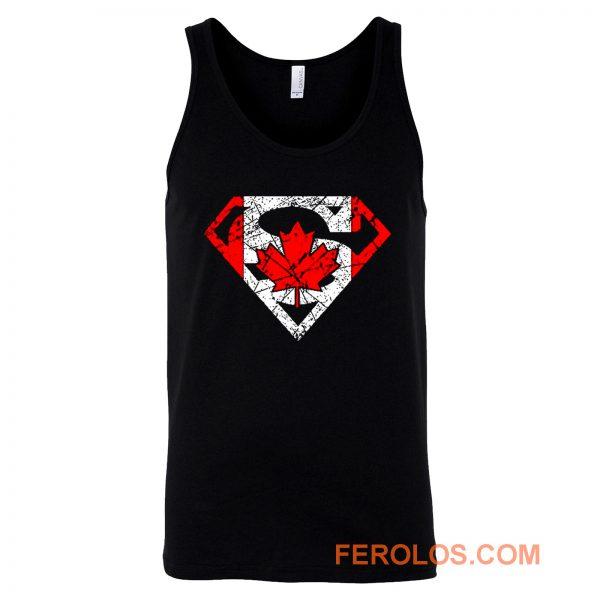 Superhero Dad Canadian Flag Tank Top