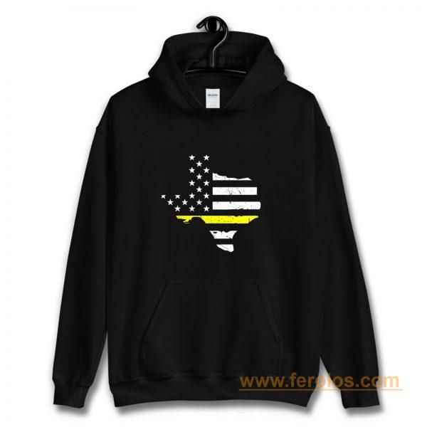 Texas 911 Dispatcher American Flag Hoodie